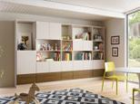 California Closets Family Room Shelving System in Classic White