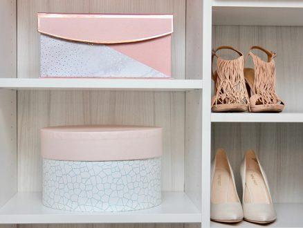 Close Up Image White Closet Shelving