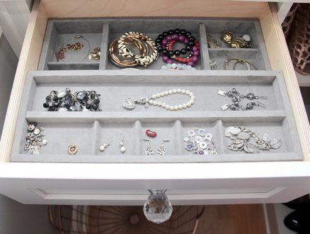Close Up Image of Client Kari Skelton Dresser Drawers with Jewelry Organizer Inserts