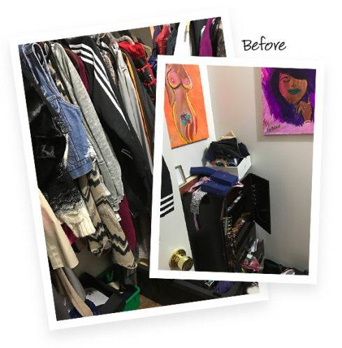 Cynthia Newman Client Story Walk in Closet Redesign Before Images