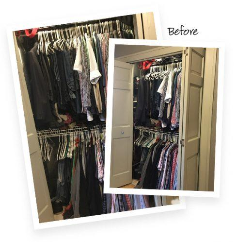 Jamie Brad Client Story Reach in Closet Redesign Before Image