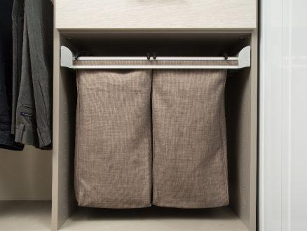 Jodie Parr Client Story Close Up Image of Grey Canvas Drawer with Organizer Inserts